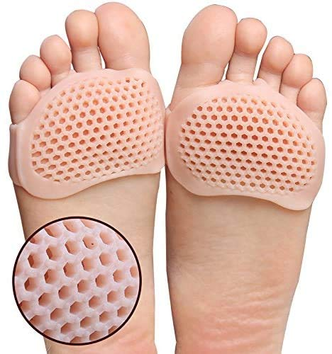 Metatarsal Pads 4 Pcs Ball of Foot Cushions for Rapid Pain Relief -Soft Sole Soft Gel Ball