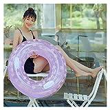 Gcxzb Schwimmreifen Schwimmen Ring aufblasbare schwimmring 75 cm Pool Float Spielzeug Kreis Clear Strand Meer Party luftmatratze erwachsen (Color : Plum)