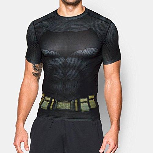 Under Armour - T-shirt Compression - Uomo Grafito/Negro / Large