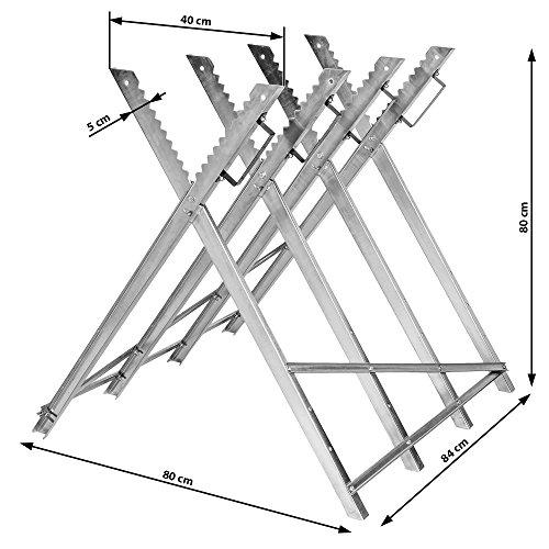 "TecTake Holzsägebock für Kettensäge – diverse Modelle – (Silber / ""Typ 401165"") - 4"