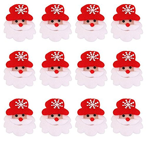 fenical 12pcs LED Noël Broche broches Party Cadeaux