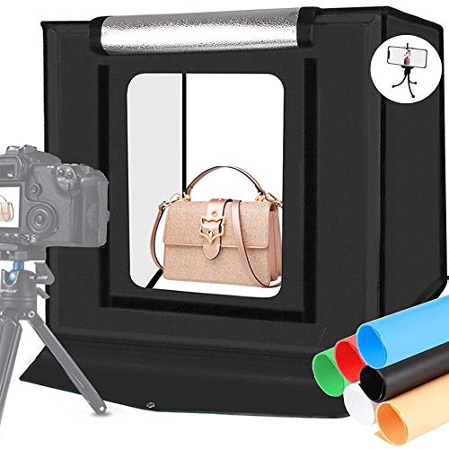 Alucax Photo Studio Light Box, 24x24 inches Portable Lightbox for Product Photography...