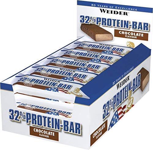 Weider 32% Barrette Proteiche - Confezione da 24 Barrette x 60g - ad Alta Percentuale Proteica Low Fat Gusto Eccezionale (Vaniglia)