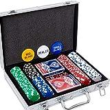 Yinlo Poker Chips Set - 200PCS Poker Set with Aluminum Case, 11.5 Gram Casino Chips for Texas Holdem Blackjack Gambling
