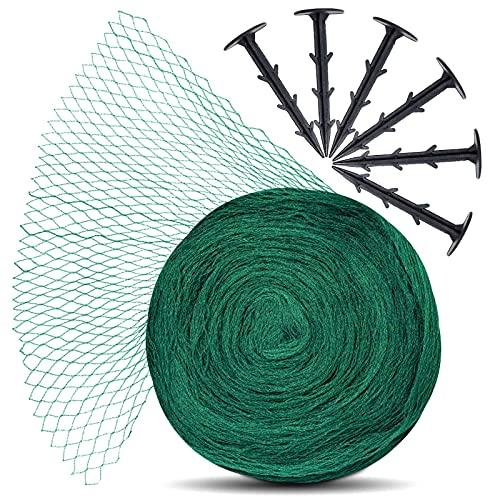 lampox Vogelschutz-Netz, Obstbaumnetz, Gartennetz, Teichnetz, Pool Netz, Vogelabwehr-Netz, Laubnetz, robust, Maschenweite: 12x12mm (5x5, inkl. 8 Haken)