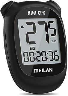 Meilan M3 Mini GPS Bike Computer, Wireless Bike Odometer and Speedometer Bicycle Computer IPX6 Waterproof Cycling Computer with LCD Display for Outdoor Men Women Teens Bikers (Black)