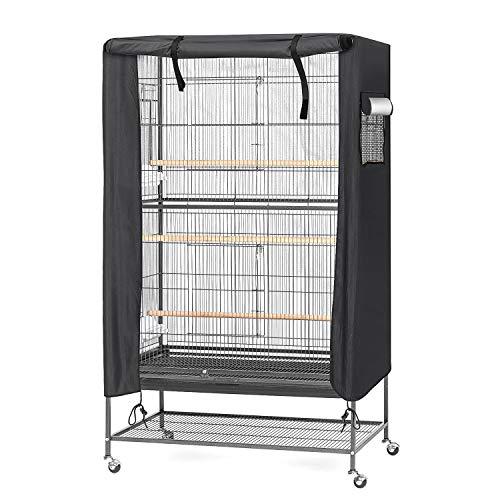 Ertisa Funda para jaula de pájaros, 97 x 60 x 130 cm Cubierta para Jaula de pájaros, impermeable y transpirable, Duradera, Resistente al Viento, a Prueba de Polvo, para Jaula de pájaros