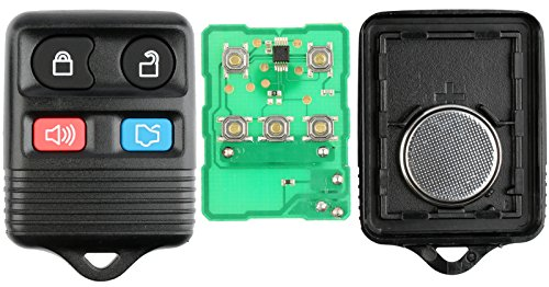 2 KeylessOption Replacement Keyless Entry Remote Control Key Fob Clicker Transmitter - Black