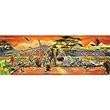 Melissa & Doug African Plains Safari Jumbo Jigsaw Floor Puzzle (100 pieces, over 4 feet long)
