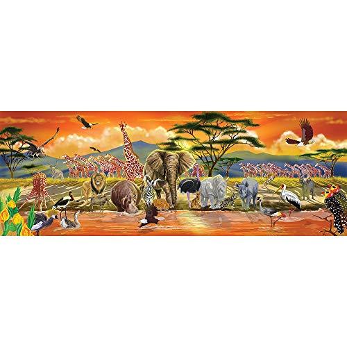 Melissa & Doug- Safari Puzzle da Pavimento, Multicolore, 12873