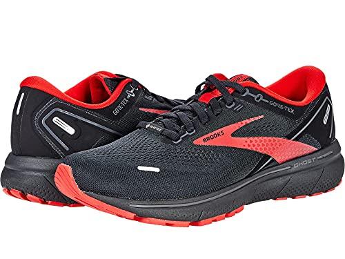 Brooks Ghost 14 GTX, Zapatillas para Correr Hombre, Color Negro Perla Highriskred, 46.5 EU