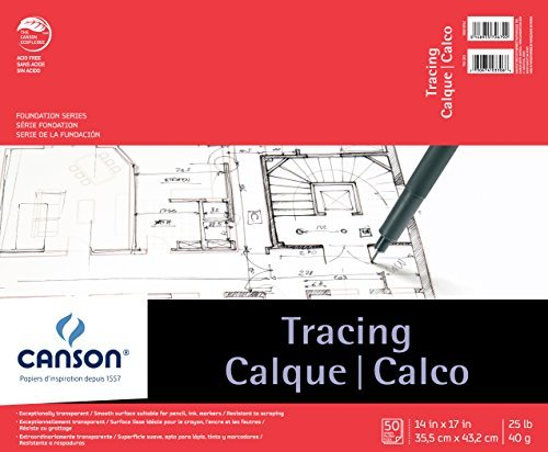 Canson Foundation Tracing Pad, 14X17 Fold Over by Canson