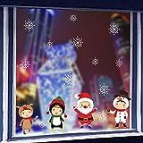 BENGKUI Weihnachten Aufkleber Fenster, Schneemann Schneeflocke Elektrostatische...