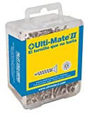 Ulti-Mate II B35016L Caja grande con tornillos de alto rendimiento para madera acabado ZINCADO de 3,5 x 16 mm, Negro, Set de 100 Piezas