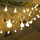 Qedertek Guirnalda Luces 10M 100 LED Blanco Cálido, Cadena de Luces 8 Modos con Control Remoto, Guirnaldas Luminosas para Exterior, Interior, Jardines, Casas, Boda, Fiesta de Navidad