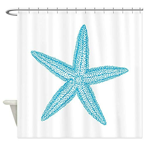 dsgrdhrty CafePress Aqua Blue Starfish Badezimmer Duschvorhang dekorativen Stil wasserdicht 180x180