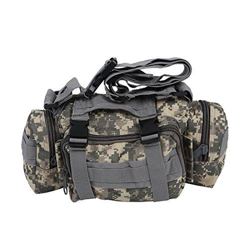 Tactique Camping Randonnee Trekking de Velo Sport Militaire Bum armee sac de taille - Camouflage