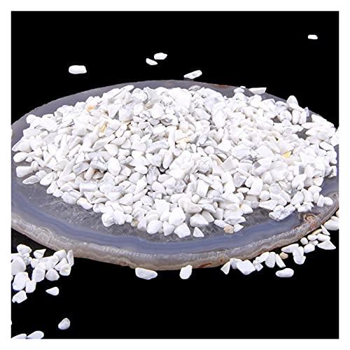 piedra natural 3- 5MM Colorido potencia natural piedra cuarzo forma irregular no agujero gemas perlas para Degauss Aquarium Bonsai Decoración de regalo ( Artikeldurchmesser : 100g , Farbe : Howlite )