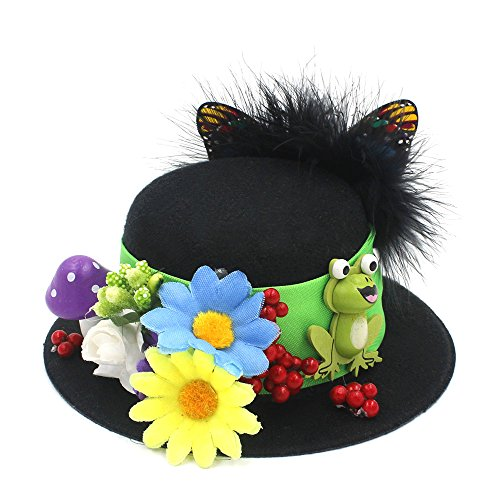 ZHLL- Casquettes 100% Handwork Noir Mini Top Hat Craft Making Party Fascinator Clips Alligator Chapellerie DIY Ordinaire Sports et Loisirs (Couleur : Noir, Taille : Average)