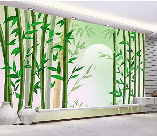 Foto de encargo Mural Wallpaper 3D Bamboo Forest Bamboo Paisaje Pintura Interior Fondo Decoración de la pared Pintura, 350 * 245 cm