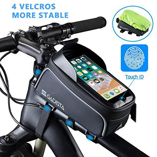 GADISTA Frankrijk, waterproof fiets frametas, touchscreen voor bovenste buis (6.5
