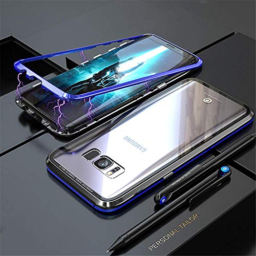 Funda de Adsorción Magnética Compatible con Samsung Galaxy S7 Edge,[360 Full Body Protection] Vidrio temperado por delante y por detrás Borde de metal , Case Cover para Samsung Galaxy S7 Edge