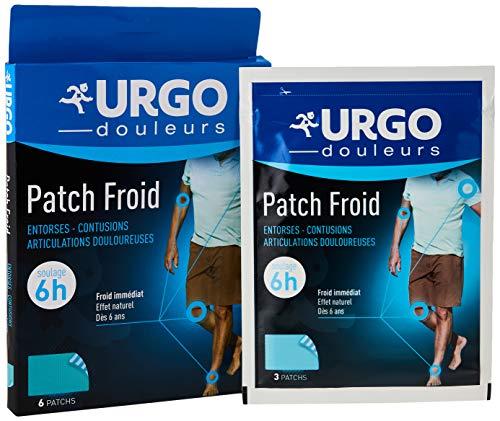 Urgo - Patch Froid Adhésif - Effet froid immédiat - Douleurs articulaires et musculaires - 6 patchs