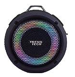 Dorm Blaster Super Sound Waterproof LED Speaker - Light up, All Weather Bluetooth Speaker - Superior Sound and Quality (Black)