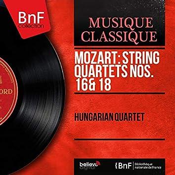 Mozart: String Quartets Nos. 16 & 18 (Mono Version)