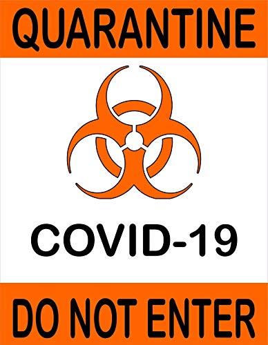 Quarantine Virus Virus Do Not Enter Decal Sticker Made in USA
