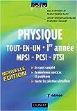 Physique tout-en-un MPSI-PCSI-PTSI 1e année - Cours et exercices corrigés