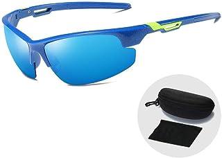FRGTHYJ - FRGTHYJ Gafas Gafas de Sol Deportivas ultraligeras para Exteriores Gafas de Sol polarizadas clásicas para Hombres Gafas de conducción UV400 Gafas con Funda con Cremallera Gafas Azules y Azules para m