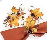 Angel Isabella, LLC Fall Themed Napkin Rings: Harvest Maple Fruit Pumpkin Theme Thanksgivi...