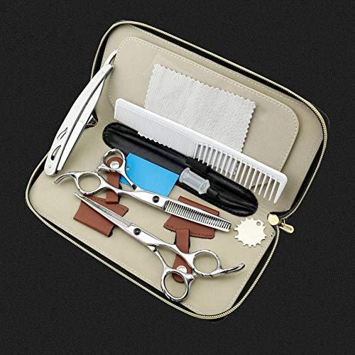 HJTLK Ciseaux de Coiffeur, Ciseaux à Cheveux Professionnels, Ciseaux de Coiffure, Ciseaux de Coiffeur pour Adultes ou Enfants - 6 Pouces (16 cm) - étui de présentation