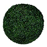 Boxwood Topiary Ball - 19' Artificial Topiary Plant - Wedding Decor - Indoor/Outdoor Artificial Plant Ball - Topiary Tree Substitute (2, Boxwood)
