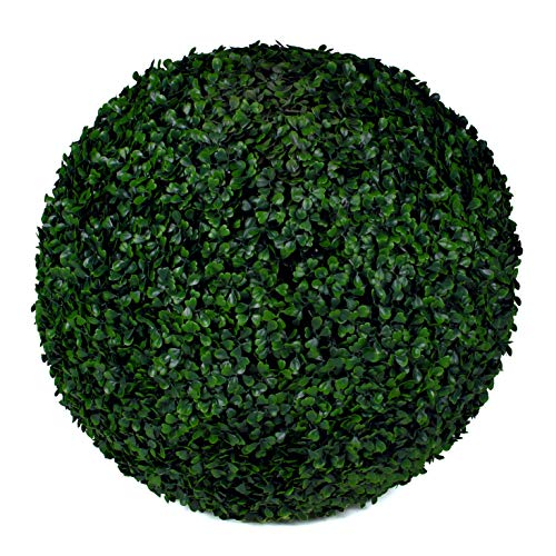 """3rd Street Inn Boxwood Topiary Ball - 19"""" Artificial Topiary Plant - Wedding Decor - Indoor/Outdoor Artificial Plant Ball - Topiary Tree Substitute (2, Boxwood)"""