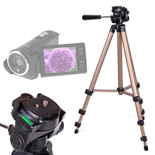 DURAGADGET Trípode Profesional para Videocámara ESDY 720P   inkint 16x Full HD   Panasonic HC-V180EC-K   HC-V180EG-K Full HD   HC-VX980EG-K - con Nivel De Burbuja