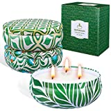 SUPERSUN 3 x 80hrs Citronella Candles Outdoor & Indoor (3x14oz), Soy...