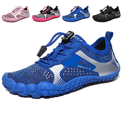 MARITONY Badeschuhe Kinder Schuhe Barfußschuhe Barfussschuhe Schwimmschuhe Wasserschuhe Aquaschuhe Strandschuhe Jungen Mädchen 1 Blau 33 EU