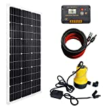 DC HOUSE Solar Submersible Pump System Kit Solar Panel Monocrystalline + Submersible Utility Pump + 20A Controller for Watering Sewage Irrigation Fountain