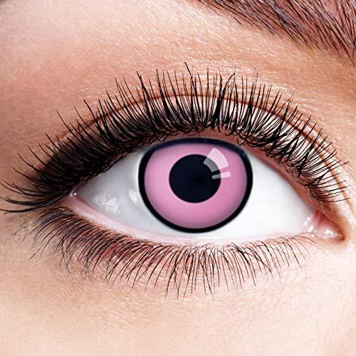 Farbige Kontaktlinsen Pink Rosa Ohne Stärke Motiv Eye Linsen Halloween Karneval Fasching Cosplay Kostüm Eyes Pinke Augen Panther Einhorn