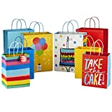 Hallmark 9' Medium and 13' Large Gift Bags Assortment (Pack of 8; 4 Large and 4 Medium) for Birthdays, Baby Showers or Any Occasion