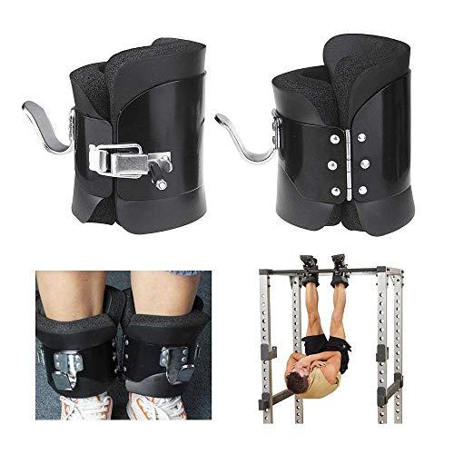 Gravity Boots Schwarz mit Sicherheitsverschluss – bis 150 kg belastbar, sicherer Sitz, ideal für Rückenübungen - 1 Paar