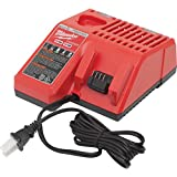 Milwaukee M12 & M18 Replacement Multi-Voltage Battery Charger - Charges Compact Batteries In 30 Minutes And Extended Capacity Batteries In 60 Minutes Power Tool
