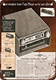 Wisesign 1972 Car 8-Track Tape Player Rusty Look Reproduction Metal Tin Sign 8X12 Inches