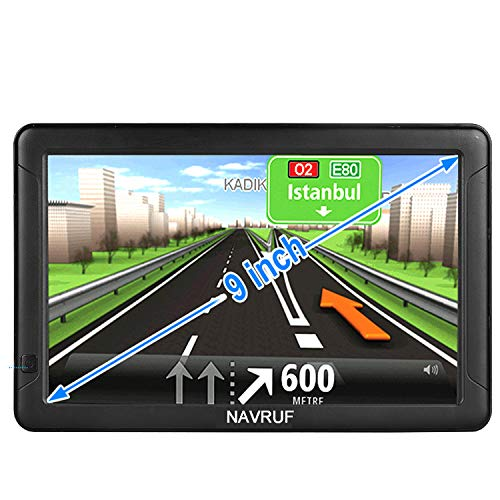 GPS Navigation for Cars and Trucks, 9-inch car GPS Navigator, high-Definition Touch Screen and Voice Reminders, The Latest map Navigation in 2020