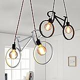Lámpara colgante de techo (E27), moderna, minimalista, de hierro, con forma de...