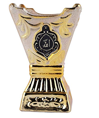Beautiful Ceramic Incense Bakhoor/Oud Burner Frankincense Incense Holder Non Electric, Best for Gifting - IB-29-NE - 1Pc