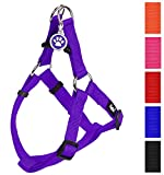 PUPTECK No Pull Dog Harness Adjustable Basic Nylon Step in Puppy Vest Outdoor Walking Chest Girth 23.8'-31.6' Large