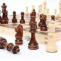 チェスセット 、木製磁気折りたたみチェスセット、フェルトゲームボードインテリア付き、収納用大人の子供初心者チェスボードファミリーゲーム(34cm)